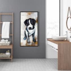 Framed 24 x 48 - Sitting dog