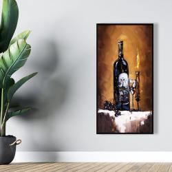 Framed 24 x 48 - Candlelit wine