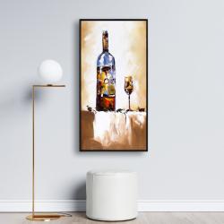 Framed 24 x 48 - White wine
