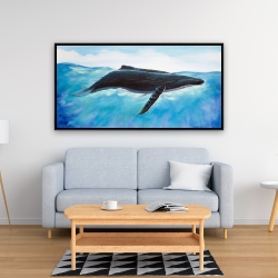 Framed 24 x 48 - Blue whale