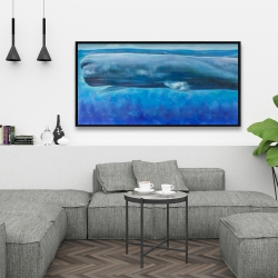 Framed 24 x 48 - Sperm whale