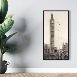 Framed 24 x 48 - Big ben in london