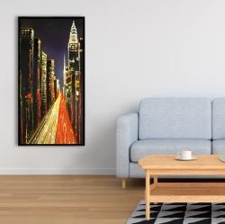 Framed 24 x 48 - Lively city