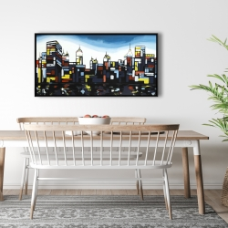 Framed 24 x 48 - Colorful city