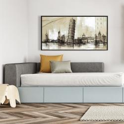 Framed 24 x 48 - Pise tower sketch
