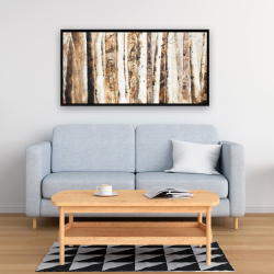 Framed 24 x 48 - Trees of an asbtract forest