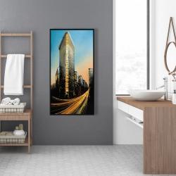 Framed 24 x 48 - Flatiron building in light