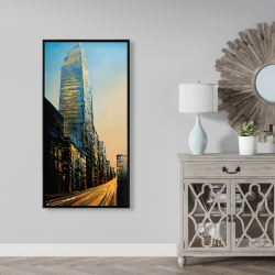 Framed 24 x 48 - In the street of empire state building