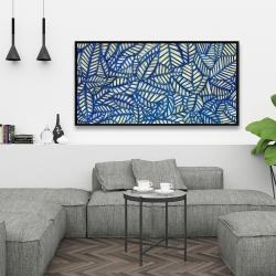 Framed 24 x 48 - Leaves patterns