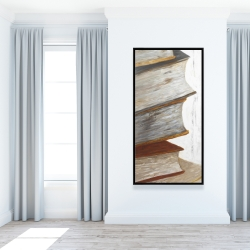 Framed 24 x 48 - Mountain of vintage books