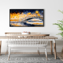 Framed 24 x 48 - Bridge in the moonlight