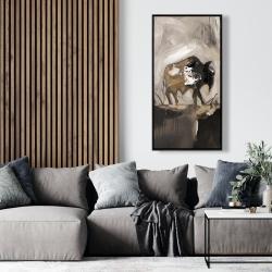 Framed 24 x 48 - Abstract buffalo
