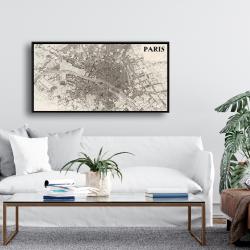 Framed 24 x 48 - Paris