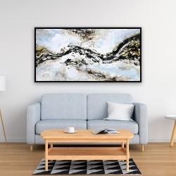 Encadré 24 x 48 - éclats de peinture abstraite et texturées