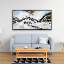 Framed 24 x 48 - Abstract and texturized paint splash