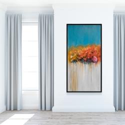 Framed 24 x 48 - Orange flowers bundle