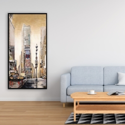 Framed 24 x 48 - Big city street with skyscrapers