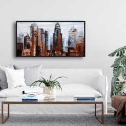 Framed 24 x 48 - Sullen day in the city