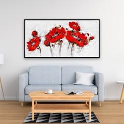 Encadré 24 x 48 - Fleurs de pavot abstraites