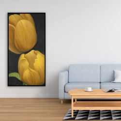 Framed 24 x 48 - Two daffodils flowers