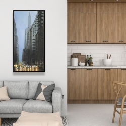 Framed 24 x 48 - Evening in the streets of new-york city
