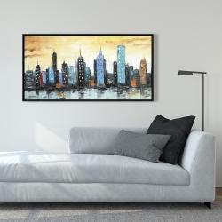 Framed 24 x 48 - Skyline on cityscape