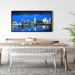 Framed 24 x 48 - Blue skyline of london