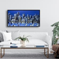 Framed 24 x 48 - City in blue