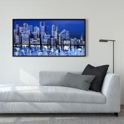 Framed 24 x 48 - Blue skyline
