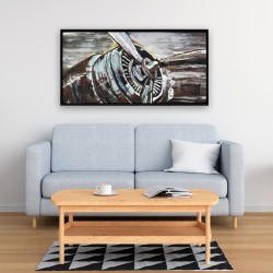 Framed 24 x 48 - Airplane propeller