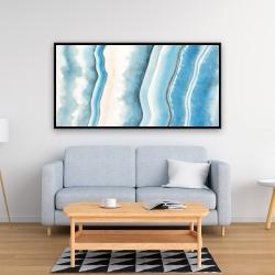 Framed 24 x 48 - Textured geode