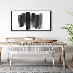 Framed 24 x 48 - Black shapes