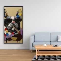 Framed 24 x 48 - Abstract smoking dog