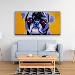 Framed 24 x 48 - Flash the pug