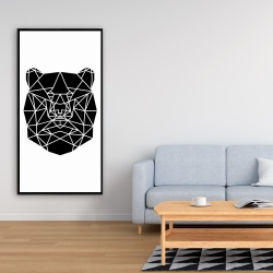 Framed 24 x 48 - Geometric bear head