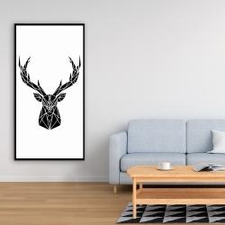 Framed 24 x 48 - Geometric deer head