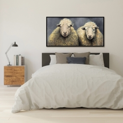 Framed 24 x 48 - Wool sheeps