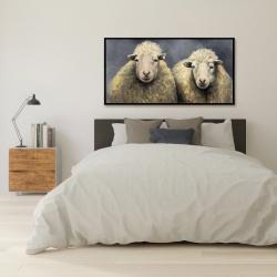 Framed 24 x 48 - Wool sheeps