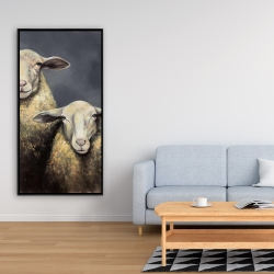 Framed 24 x 48 - Two sheeps