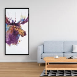 Framed 24 x 48 - Abstract moose