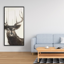 Framed 24 x 48 - Abstract deer