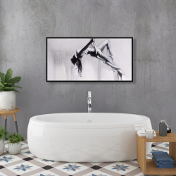 Framed 24 x 48 - Dancer on aerial contortion