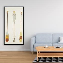 Framed 24 x 48 - Canoe paddles