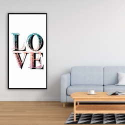 Framed 24 x 48 - Colorful love