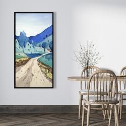 Framed 24 x 48 - Tuscany trail