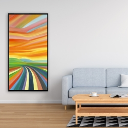 Framed 24 x 48 - Colorful road