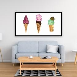 Framed 24 x 48 - Ice cream cones