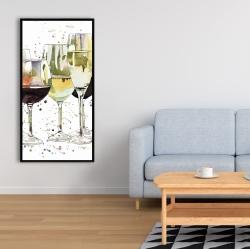 Framed 24 x 48 - Beautiful wine glasses