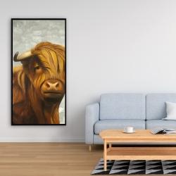 Framed 24 x 48 - Highland cattle