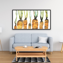 Framed 24 x 48 - Watercolor carrots